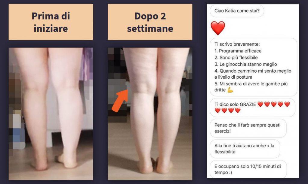 programma gambe storte Katia Vaccari