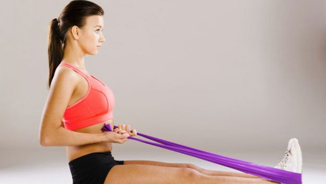 stretching con banda elastica